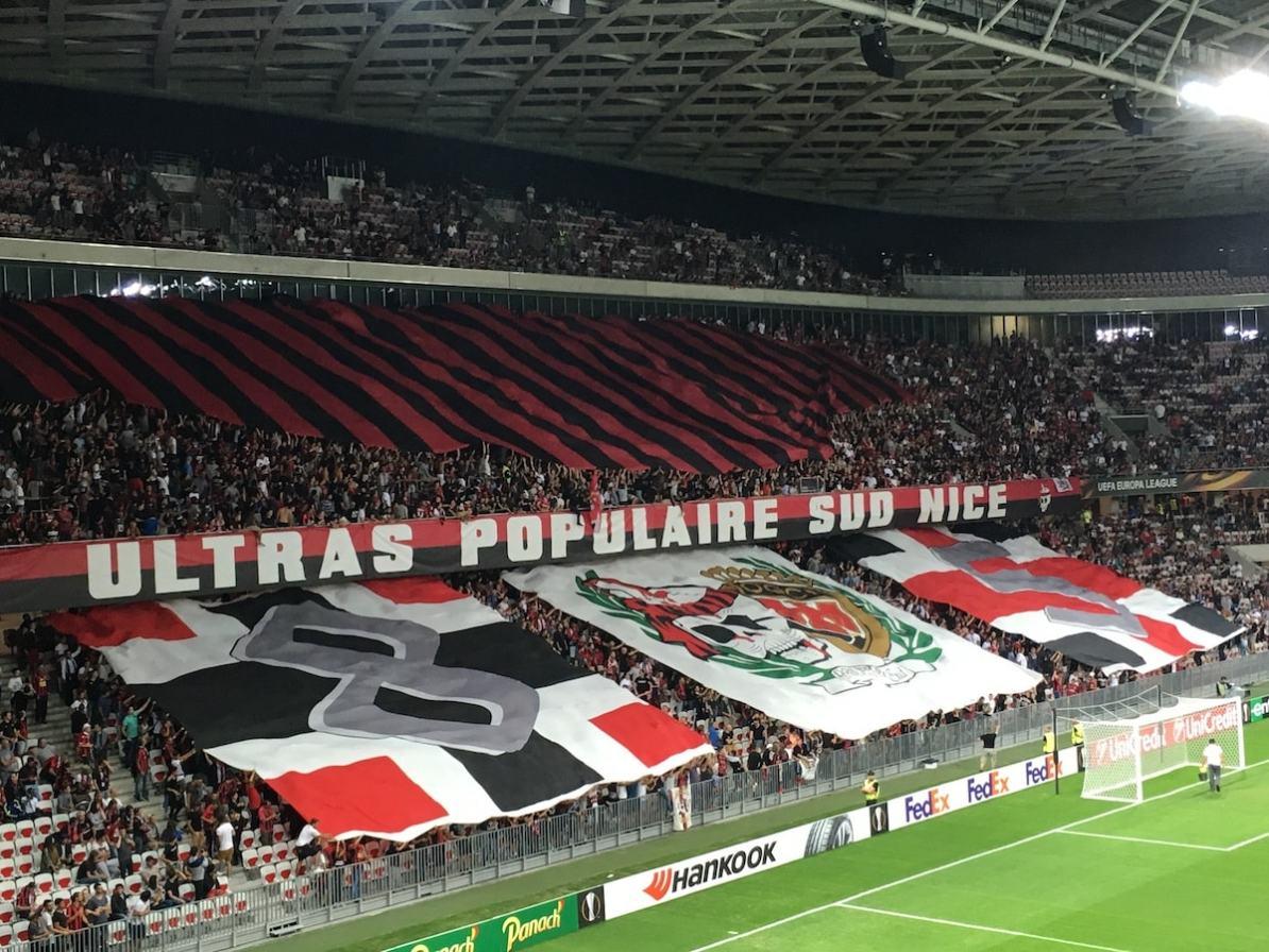 Allianz Riviera Stadion in Nizza, Frankreich.