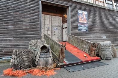 Eingang zum Museumsschiff Arche Noah