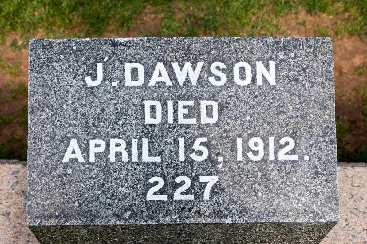 Grab von J. Dawson