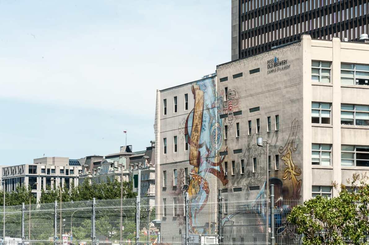 Mural in der Nähe von Old Montréal