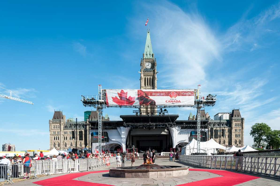 Central Block mit dem Peace Tower, Canada Day 2016