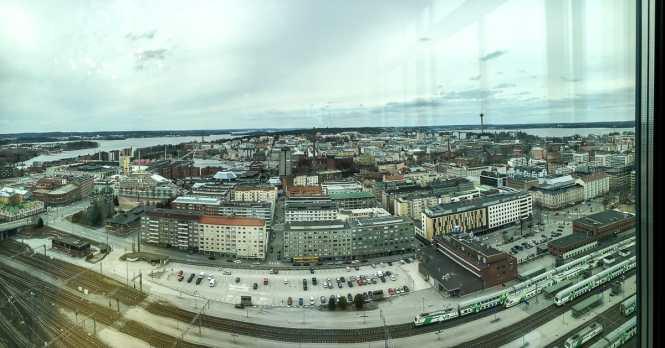 Panorama von Tampere aus der Sky Bar