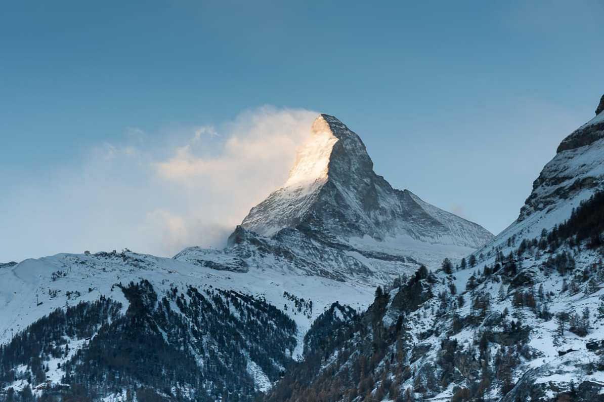 Das Matterhorn am Morgen
