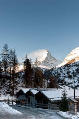Blick auf das Matterhorn vom CERVO aus