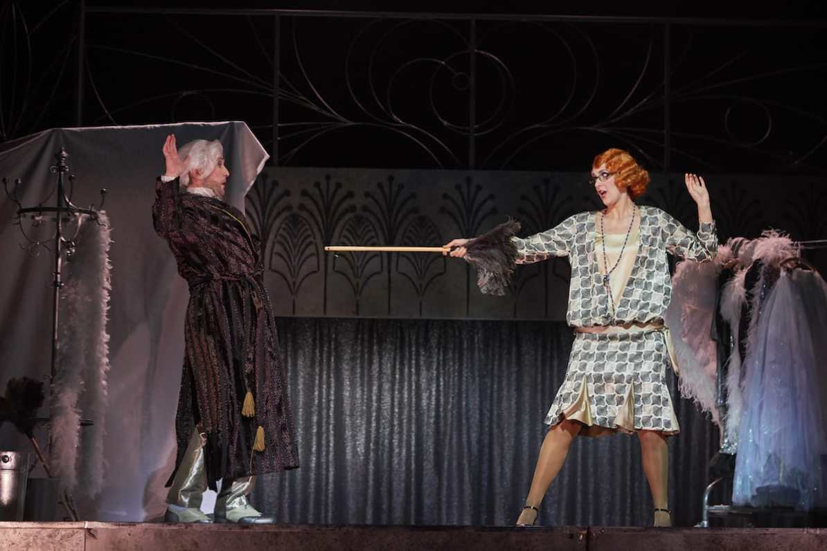 Frau Luna, Theater Dortmund Dirk Weiler (Theophil), Ileana Mateescu (Stella) © Björn Hickmann, Stage Picture