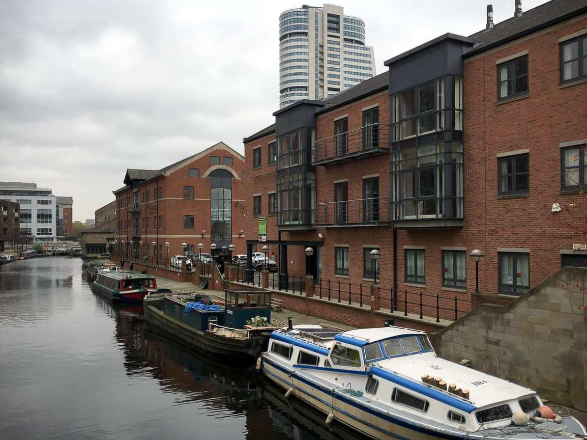 Southbank Hafengebiet südlich der Innenstadt von Leeds