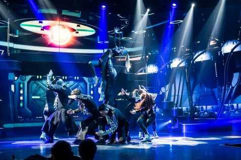 Spektakuläre Tanzeinlage