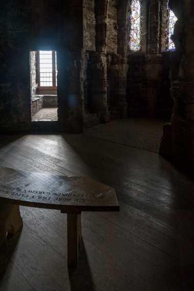 Innerhalb eines Burgturms