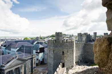 Blick vom Turm auf die befestigte Stadt