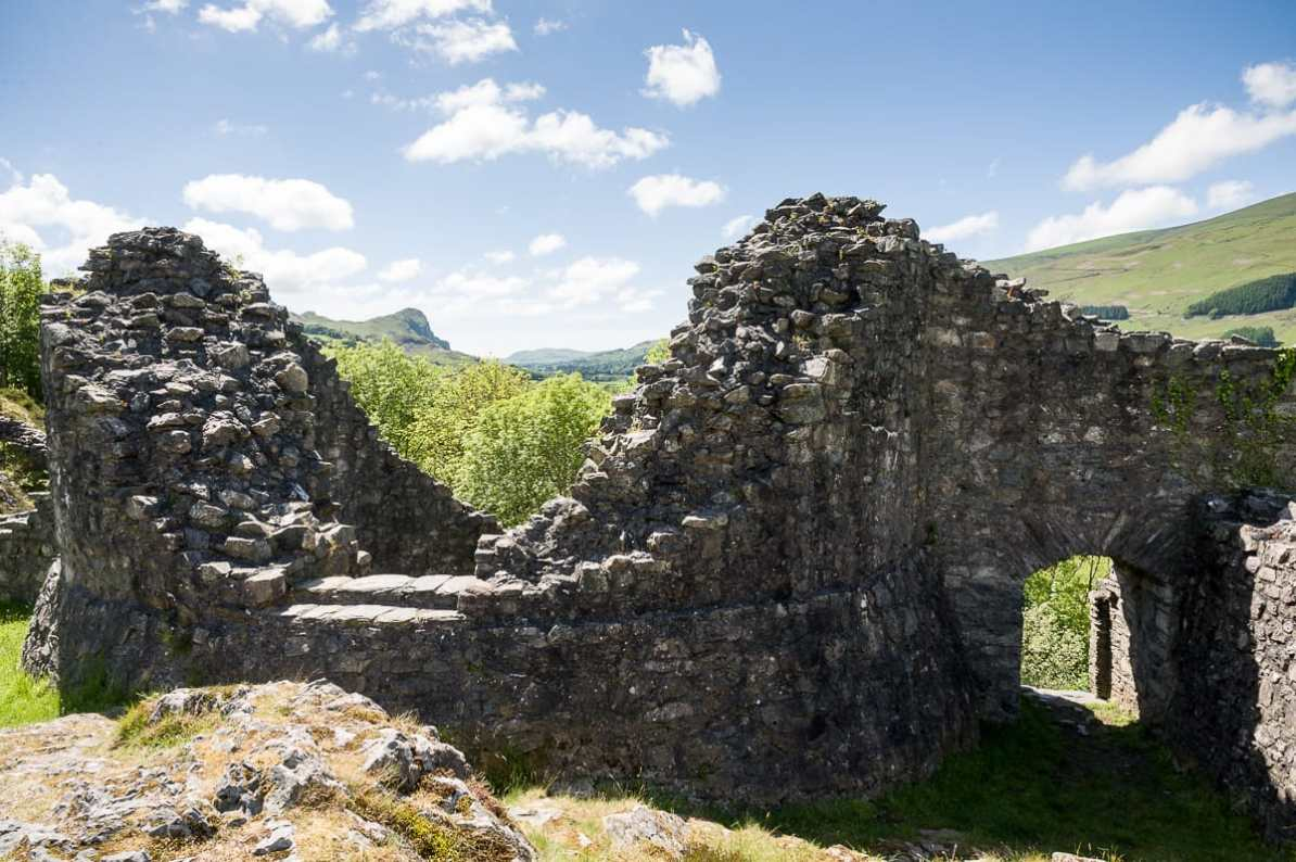 Teile der Ruine von Castell y Bere