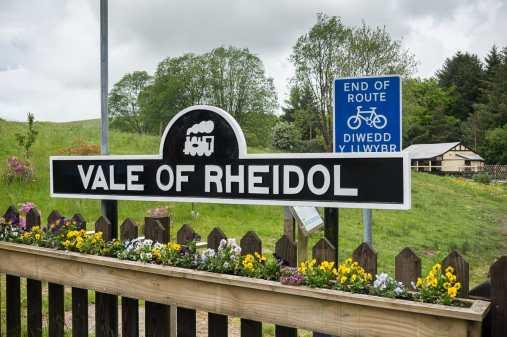 """An der Bahnstation """"Devil's Bridge"""" von der Vale of Rheidol Railway"""