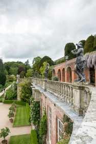 Die beeindruckenden Gärten und Terrassen in Powis Castle
