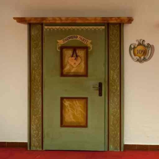 Eingangstür der Sigmund-Suite, Hotel Klosterbräu