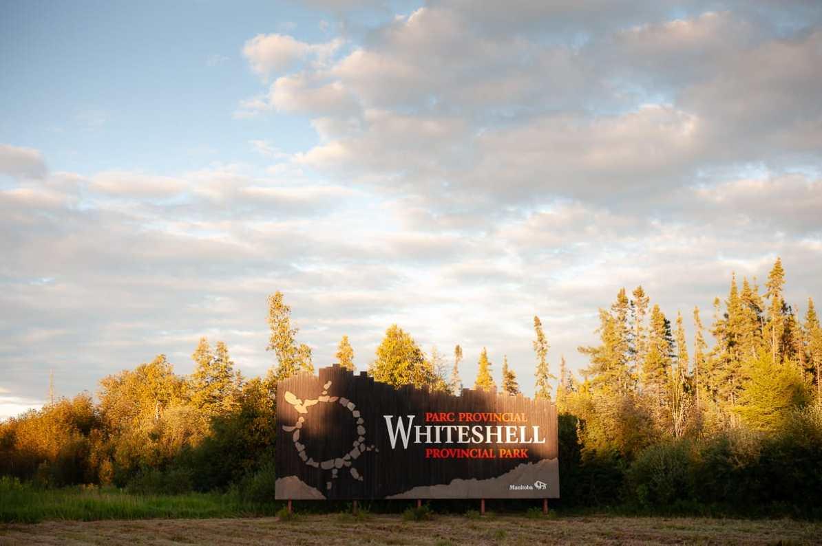 Eingang zum Whiteshell Provincial Park aus Manitoba kommend