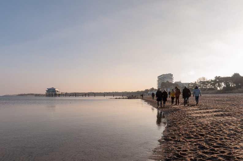 Strandspaziergang zwischen den Jahren