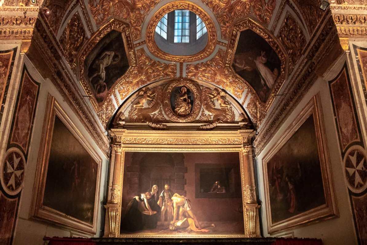 """Caravaggios Gemälde """"Die Enthauptung des Johannes des Täufers"""""""