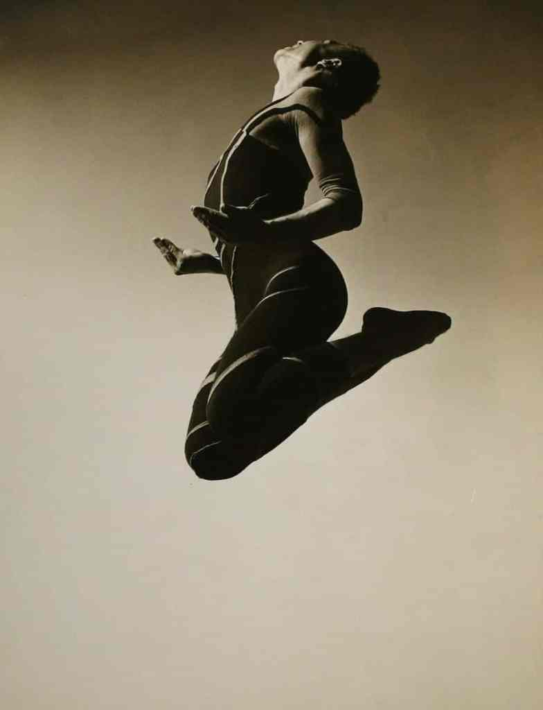Barbara Morgan, Merce Cunningham, Totem Ancestor, 1942, Bruce Silverstein Gallery, New York, © Barbara and Willard Morgan photographs and papers, Library Special Collections, Charles E. Young Research Library, UCLA., Courtesy Bruce Silverstein Gallery, New York