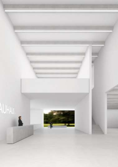 Bauhaus Museum Weimar, Perpektive Foyer Entwurf: Prof. Heike Hanada mit Prof. Benedict Tonon ©Klassik Stiftung Weimar Quelle: Bauhaus100.de Jubiläumsprogramm.
