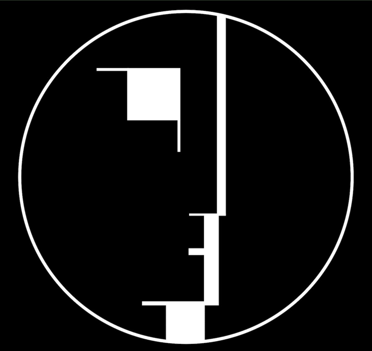Bauhaus-Logo, 1922 von Oskar Schlemmer entworfen gemeinfrei via Wikipedia.