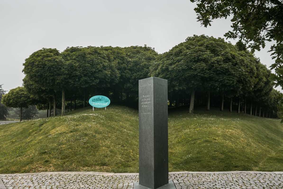 Friedenspark mit Ahornbäumen