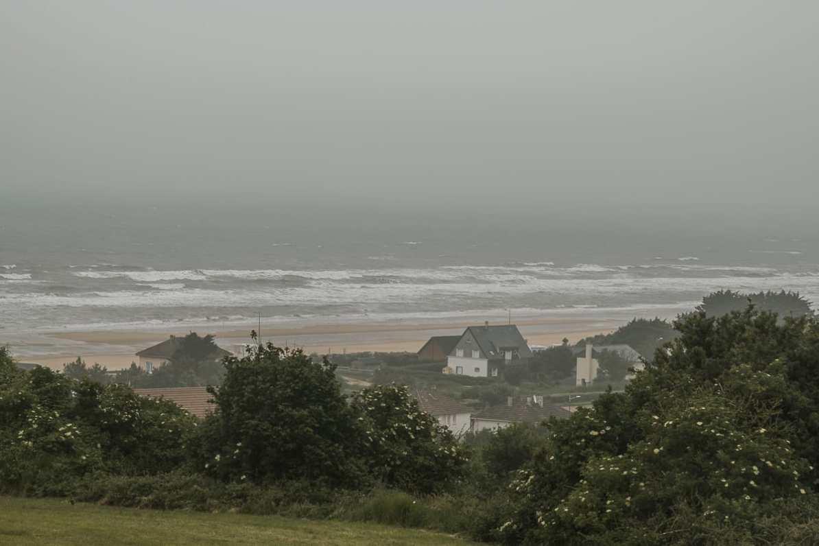 Ausblick über Saint-Laurent-sur-Mer - Teil des Omaha Beach während D-Day.