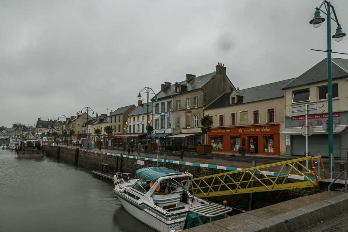 Historische Hafen von Port-en-Bessin.