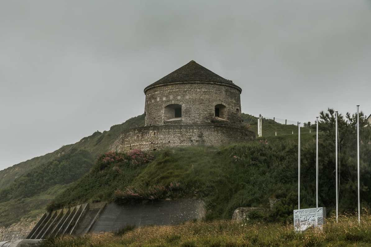 Vauban-Turm von Port-en-Bessin.