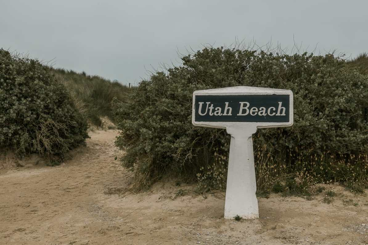 Durchgang zum Utah Beach.