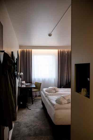 Der erste Blick ins Zimmer 630, Mercure Hotel Berlin City.
