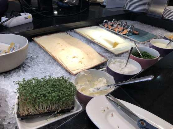 Käse- und Lachsauswahl