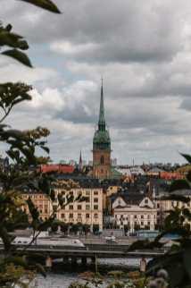 Blick auf die deutsche Kirche in Gamla Stan