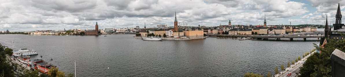 Panoramaansicht nördliches Stockholm