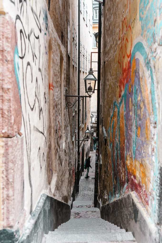 Mårten Trotzigs gränd - Stockholms kleinste Gasse mit 36 Stufen.