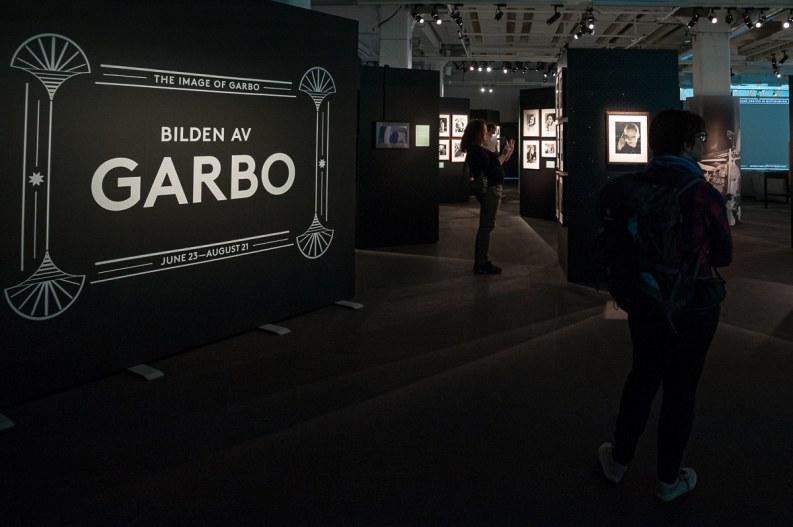 Eingang zur Greta-Garbo-Ausstellung, Fotografiska Museum in Stockholm, 2016