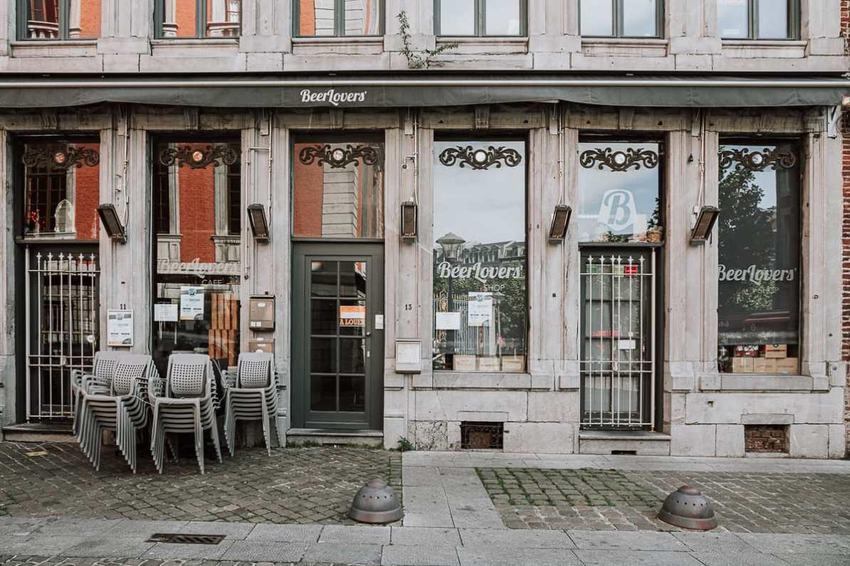BeerLovers Café und Shop in Lüttich, Eingang.