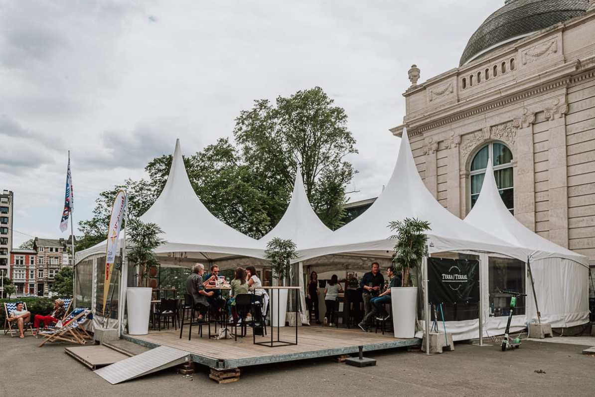 Zelt von Terra, Terrae beim Foodfestival direkt vor dem Museum La Boverie, Lüttich