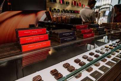 Pralinen in der Chocolaterie von Benoit Nihant