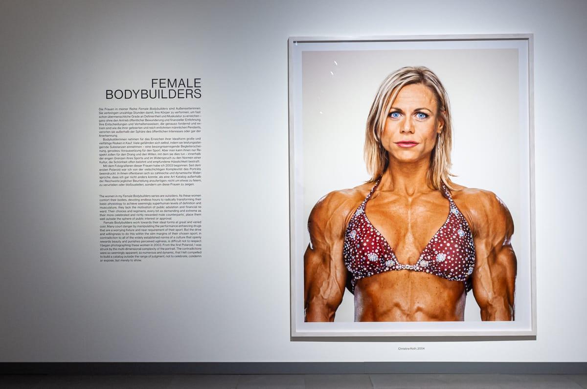 Female Bodybuilders Serie von Martin Schoeller im NRW-Forum