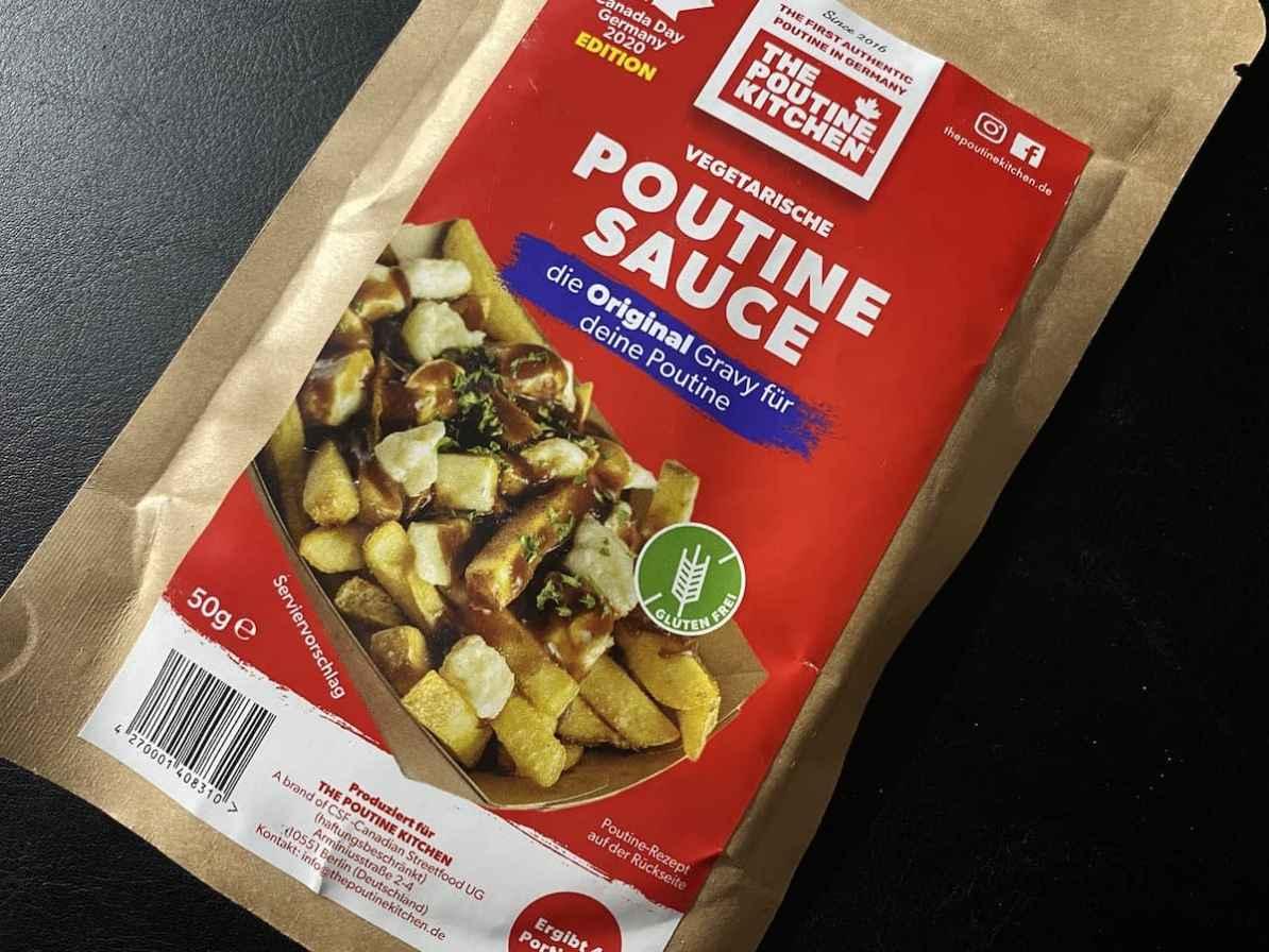 Glutenfreie, vegetarische Poutine Sauce von The Poutine Kitchen, bestellbar bei MyEnso