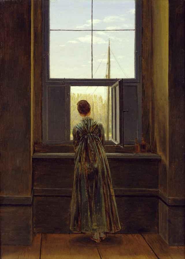 Bild: Caspar David Friedrich - Frau am Fenster, 1822, Staatliche Museen zu Berlin, Nationalgalerie, Foto: Jörg P. Anders