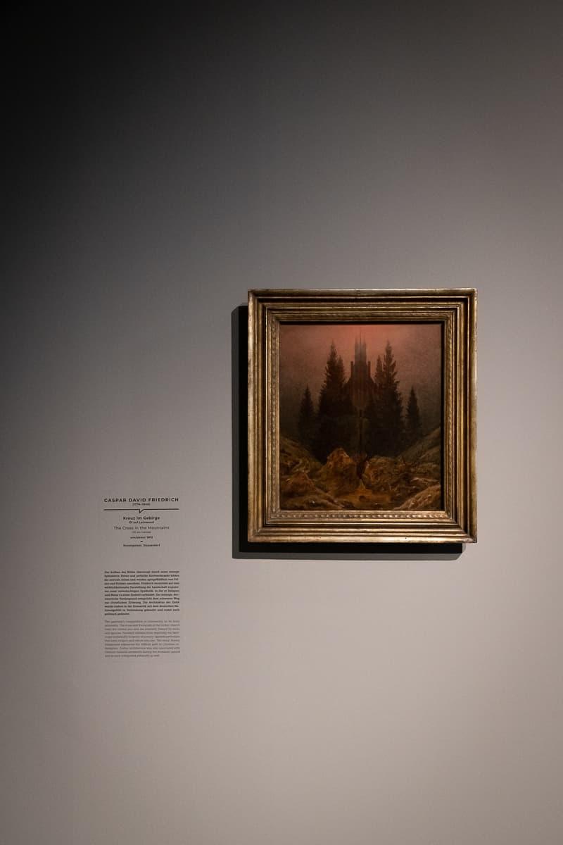 Bild in der Ausstellung: Kreuz im Gebirge, Caspar David Friedrich, um 1812, Kunstpalast Düsseldorf