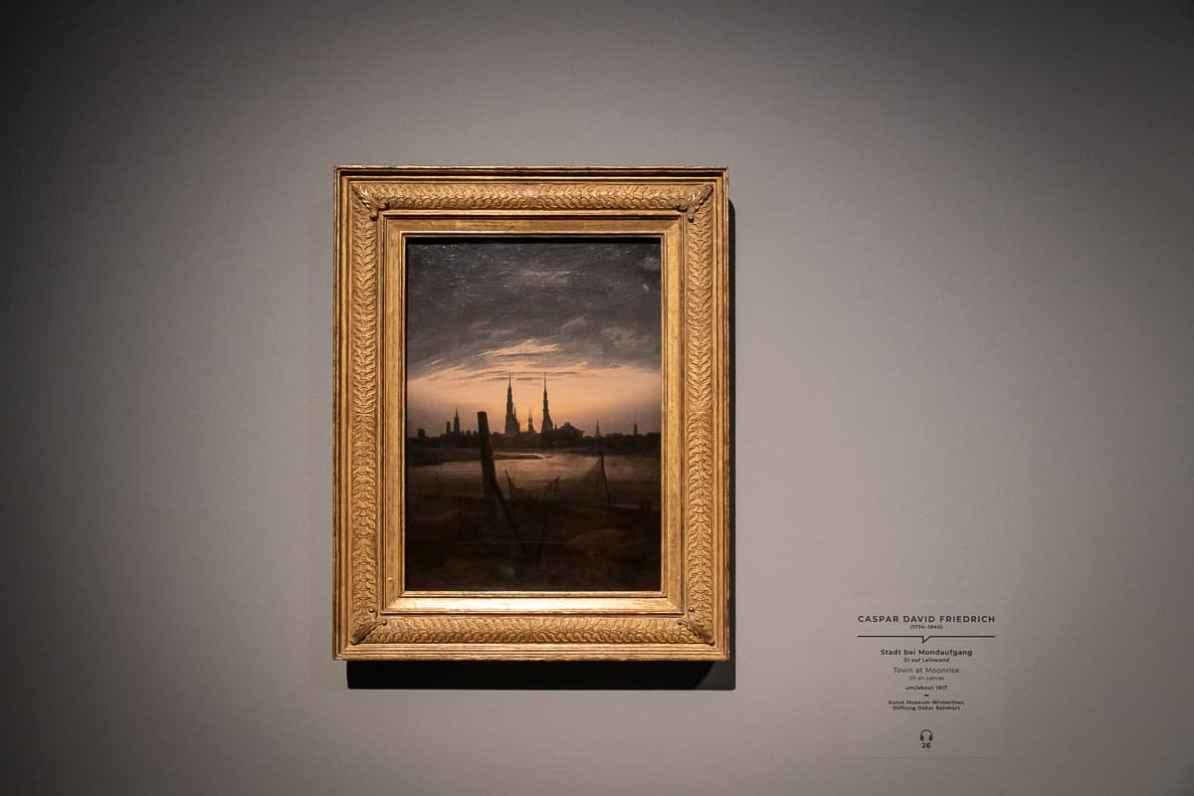 Caspar David Friedrichs Bild Stadt bei Mondaufgang, Kunst Museum Winterthur, Stiftung Oskar Reinhart