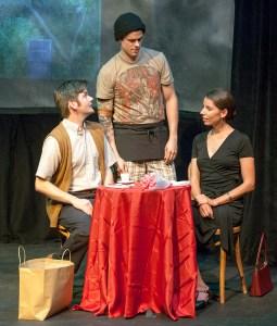 Nathan Bush, Paul Cereghino, Ellie Schwetye Photo by John Lamb St. Louis Actors' Studio