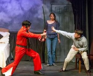 Chopper Leifheit, Ellie Schwetye, Paul Cereghino Photo by John Lamb St. Louis Actors' Studio