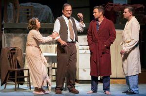 Susie Wall, John Contini, Matthew Linhardt, Jason Contini Photo by John Lamb Insight Theatre Company