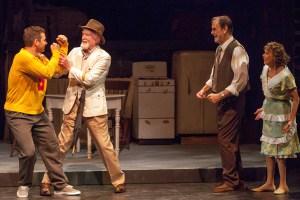 Matthew Linhardt, Joneal Joplin, John Contini, Susie Wall Photo by John Lamb Insight Theatre Company