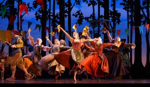 Paige Faure (center) and cast Photo by Carol Rosegg Cinderella National Tour