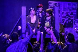 Frederick Rice, Brendan Ochs, Evan Fornachon and cast Photo by Jill Ritter Lindberg New Line Theatre