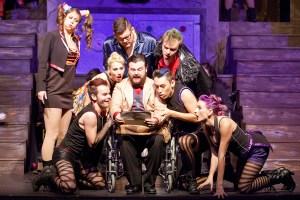 Cast of The Rocky Horror Show Photo by John Lamb Stray Dog Theatre