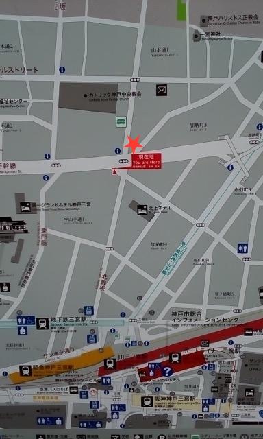 ピーナッツホテル 三ノ宮 地図